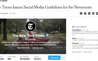 Jornal estabelece conduta para jornalistas em redes sociais e gera polêmica