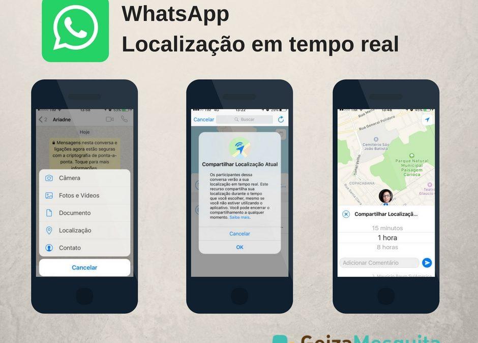Novo recurso do WhatsApp mostra localização em tempo real