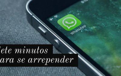 Excluindo mensagens em grupo no WhatsApp