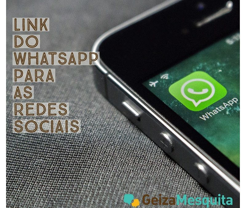 Link do WhatsApp nas redes sociais