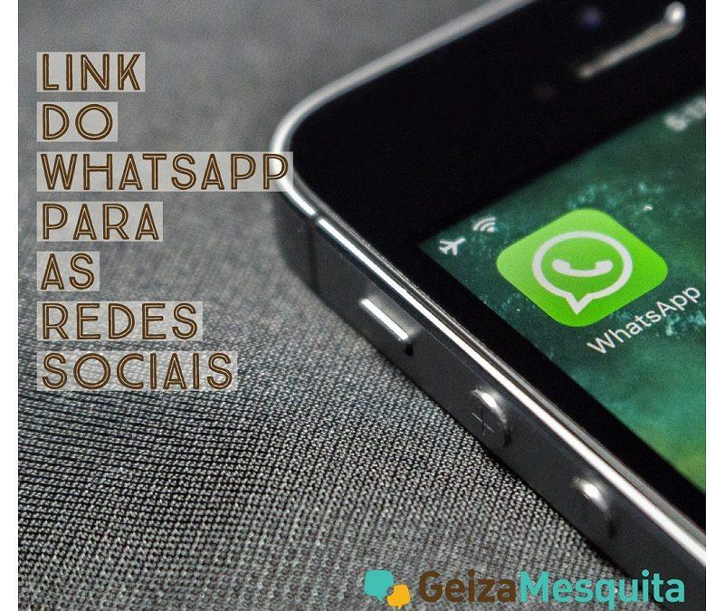 Link do WhatsApp nas redes sociais